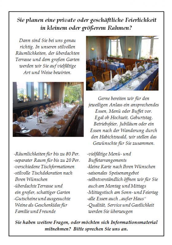 Feste Feiern Restaurant Und Cafe Prinzenquelle